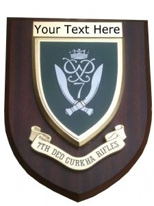 7 Deo Gurkha Rifles Personalised Military Wall Plaque